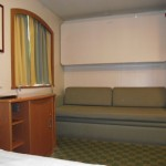 North Sea Ferries Club Cabin Settee